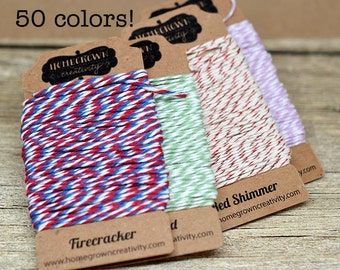 Bakers Twine - 50 Colors to Choose From - PICK 2 - 10 yards each