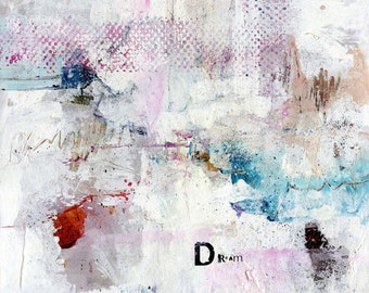 Dream ... Canvas Art Print . from Original Abstract Mixed Media painting by Kathy Morton Stanion  EBSQ