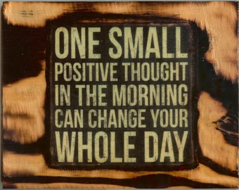 Positive Thoughts - Wooden Plaque