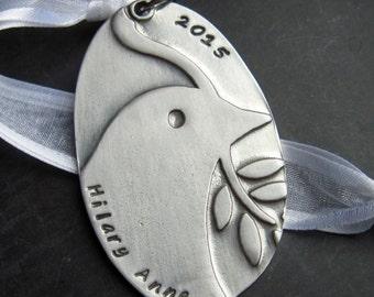 Last one!  Custom Personalized Dove Ornament