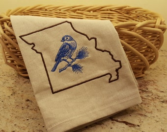 Missouri Dish Towel,  Missouri State Outline Towel, Kitchen Towel, Towel,  Dishcloths & Kitchen Towels, Linens, Kitchen and Dining, Missouri