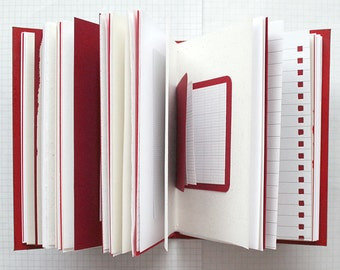 This Is Not For You. - Travel Journal - 4.5 x 6 inch A6 - Mixed Paper Journal - Red Journal