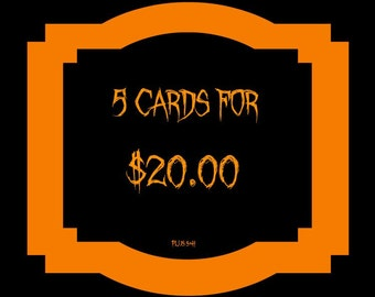 Halloween Card sale