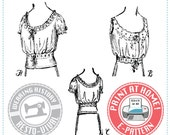 E-Pattern-  1910s Camisole or Corset Cover - Wearing History
