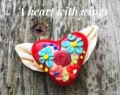 Bella Bead Jewelry Winged Heart Bead