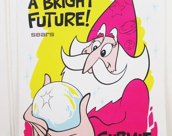 Vintage Workplace Poster Sears Work Motivational Ideas Have A Bright Future Wizard