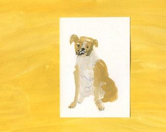 Original dog painting portrait - 100 Hideous Hounds - No. 86