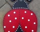 Custom handpainted wooden ladybug wall sign