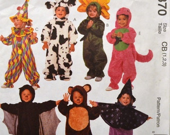 Sewing Pattern McCall's 8870 Toddler's Costumes Size 1-2-3 UNCUT COMPLETE