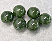 RESERVE PAUL   Vintage Nephrite Beads AB Grade 12mm pkg 6 rb13 9 lots