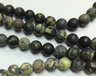 Yellow turquoise beads 8 mm - two 15 inch strands