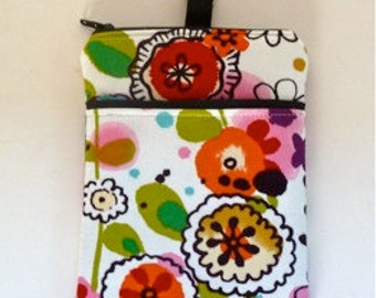 Phone Case Gadget Pouch Ipod Case Larkspur Floral Eco Friendly