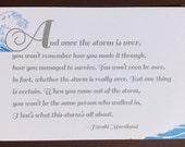 Storm Quote by Haruki Murakami - Letterpress Quote Card