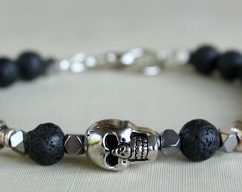 Men's Bracelet, Bracelet for men, Men's Jewelry, Gift For Him, Gift For Dad, Gift For Boyfriend, Beaded Bracelet, Father's Day, Dark Romance