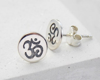 Stud Earrings | Yoga Jewelry, Ohm, Studs, Stud Earrings, Small Studs, Post Earrings, Small Stud Earrings, Post Earring, Minimalist Jewelry