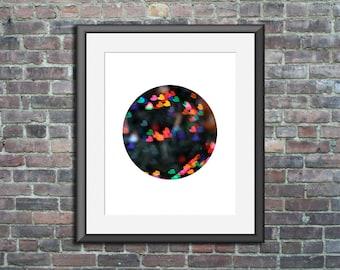 Circle Print, Circle Photo, heart art, circle photography, heart photography, circle artwork, heart artwork, circle wall print, bokeh