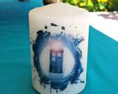 Dr. Who Splash 2 x 3 Pillar Candle