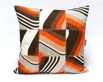 Vintage Fabric Patchwork cushion cover, 70s retro, throw pillow, 18x18 - 45x45 cm