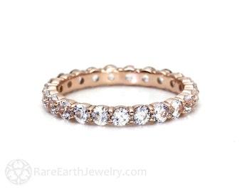 2ct Diamond Eternity Band Wedding Ring Anniversary Band Stacking Ring 14K White Yellow Rose Gold