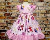 Sleeping Beauty Inspired Dress, Girl Pink Dress, Princess Dress, Girl Ruffle Dress, Little Girl Dress, Girls Dresses, Birthday Girl Dress