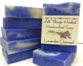 Lavender Almond Handmade Soap - Cold Process Herbal Soap- Natural Lavender Soap - Lavender Gift