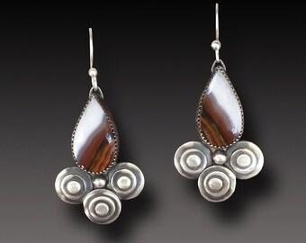Agua Nueva Agate  Earrings  Sterling Silver  DANGLE Earrings