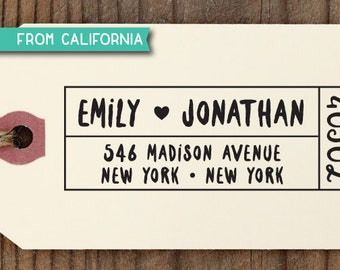 custom ADDRESS STAMP with proof from USA, Eco Friendly Self-Inking stamp, return address stamp, custom stamp, wedding stamp with heart 248