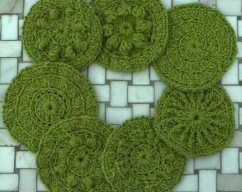Crochet PDF Pattern - Seven Circular Summertime Scrubbies