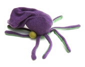 A Purple and Green Octopus