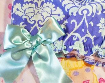 Lolita bloomers, damask print rave fashion fairy kei size L large shorts