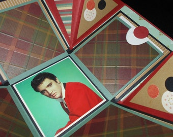 Photo Box - Elvis - rust and tan tones