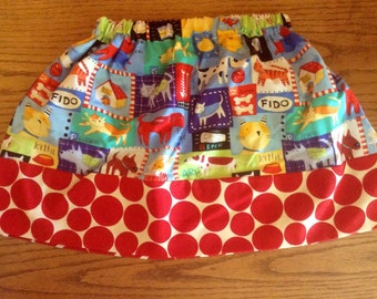 Mismatched Masterpiece Skirt....choose any of my fabrics.....contact me for adult sizes to 3x