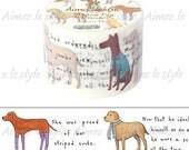 Dreamy Dog Washi Tape • Dreamy Dog Japanese Washi Tape • Dog Lover • Dog Washi Tape • Cute Washi Tape • Aimez le style Washi Tape (04505)