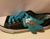 Rainbow dash inspired shoe wings (finished item)