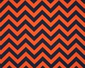 Premier Prints Zig Zag Chevron Fabric. ORANGE & BLUE Chevron Premier Prints Cotton Home Decor by the yard. Auburn War Eagle. Sewing Destash