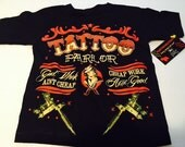 nwt black kids tee shirt of tatoo parlor