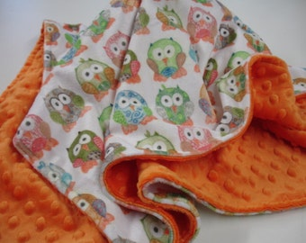 Double Sided Minky Blanket made with KBE Custom Designs You Choose Print Made to Order