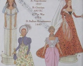 Simplicity Barbie Doll Costume Musuem Collection Pattern 7089