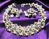 Vintage DeMario Rhinestone Glass Necklace Set