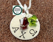Alpha Chi Omega Sorority Necklace-Sterling Silver and 14K Gold Filled Greek Letter Jewelry-Big Sis Lil Sis-Alpha Chi Omega Jewelry-OLP
