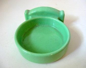 Jadeite Green Porcelain Cup Holder for Bathroom