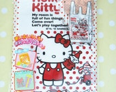 30 Shopping Plastic Gift Bags (16cm31cm) Hello Kitty - Red -