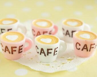 6 pcs Big Coffee Mug Cup Cabochon (10mm13mm) CD608 (((LAST)))