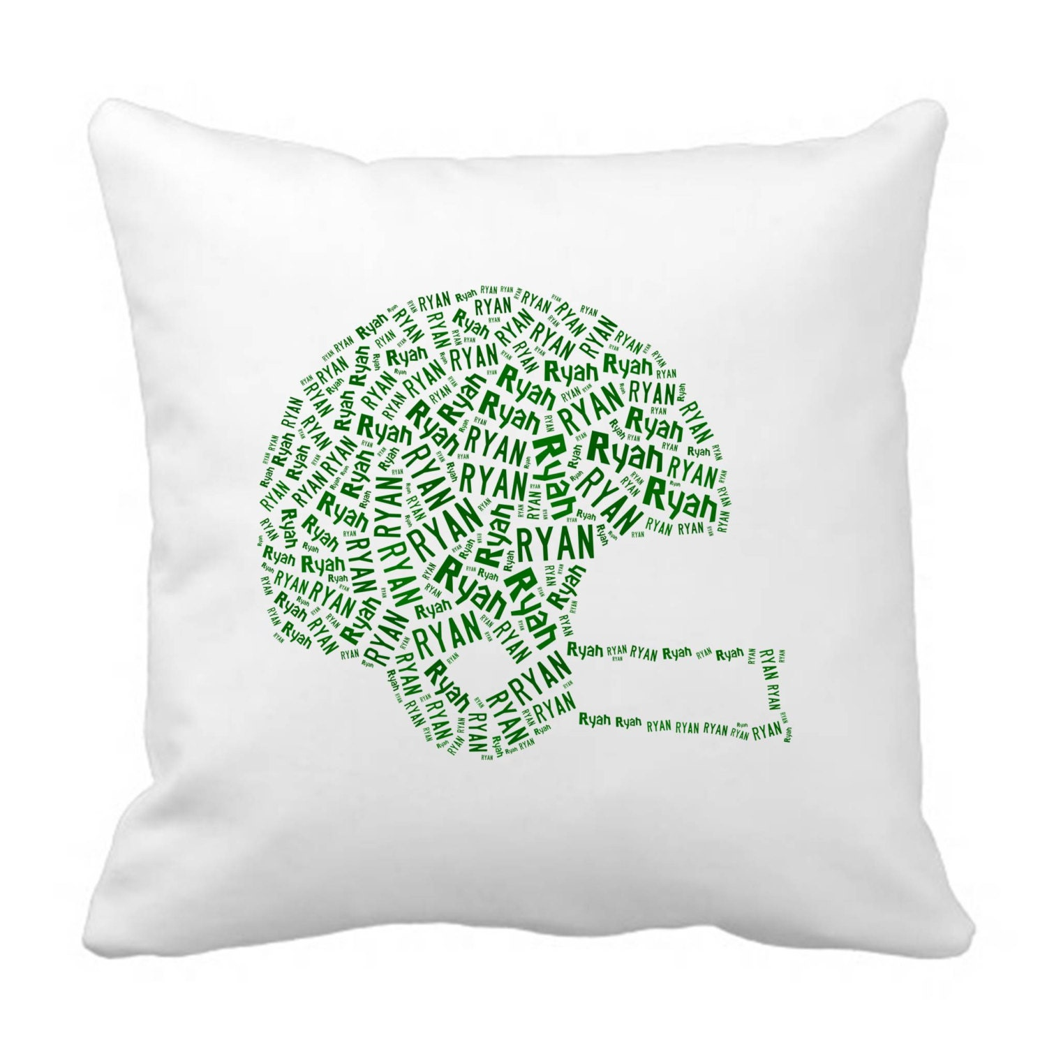 20 By 20 Decorative Pillow Covers : Personalized 20 x 20 Throw Pillow Cover for the Baylor