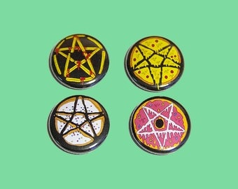 junk food pentagrams | 1 inch pins