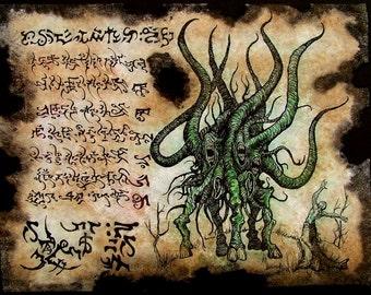 SPAWN of SHUB NIGGURATH  Necronomicon Fragments cthulhu larp