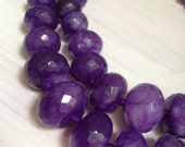 Amethyst Faceted Rondelle Bead Strand, graduated