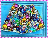 girls super Mario Bros brothers skirt nintendo 2t 3t 4t 5t 6/6x 7/8 10/12 and 14/16
