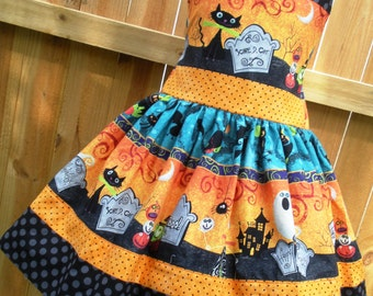 Ready to Ship Custom Boutique Halloween Girl Jumper Dress 7  Slim 8
