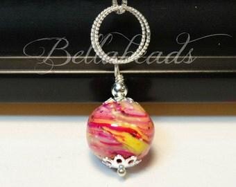 Custom made memory jewelry,  Rose petal jewelry,  Flowers made into jewelry,  Funeral flowers into jewelry, Double Ring Pendant